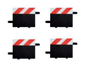 Carrera Geradenrandstreifen für 1/3-Geraden rot/weiss, 4 Stück