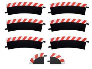 Carrera Außenrandstreifen Steilkurve 2/30° rot/weis, 6 Stück
