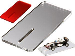 Aufstell- und Montageplatte 1:43 70 x 150 mm transp. o. farbig