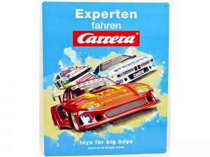 Carrera großes mehrfarbiges Blechschild 50 x 40 cm Retro Race !