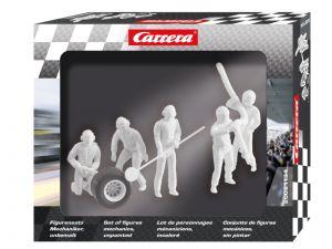 Carrera Figurensatz Mechaniker unbemalt