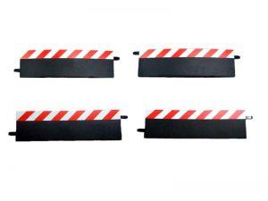 Carrera Randstreifen für 4-teilige Überfahrt rot/weiss, 4-teilig
