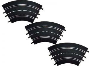 Carrera D124/D132/EVO Kurve 1/60° Standardkurve, 3 Stück