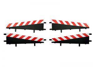 Carrera Verbindung  zum Steilkurveninnenrand rot/weiss, 4 Stück