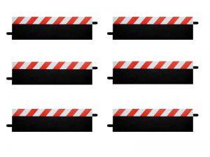 Carrera Geradenrandstreifen rot/weiss, 6 Stück