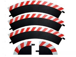 Carrera Außenrandstreifen Kurve 1/60° rot/weiss, 3 Stück
