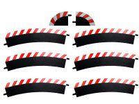 Carrera Außenrandstreifen für Kurve 3/30° rot/weiss, 6 Stück