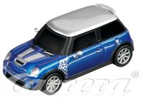 2007: CarreraGO!!! Mini Cooper S Checkmate - Hyper Blue Metallic