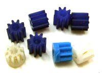 Motorritzel für Minimotor Kunststoff 8 Zähne 4 Stück