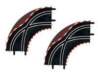 Carrera GO!!!/D143 Spurwechselkurve Kurve 1/90 mit Leitplanken!