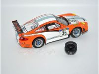 Frankenslot FS1 PU Tuning Reifen - Carrera D132/EVO Porsche 997 GT3, Mercedes-AMG GT3, Corvette C6R (2 Stck.)