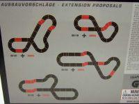 Carrera D124/D132/EVO AUSBAUSET mit 2 Standardgeraden und 4 Kurven 1/30°